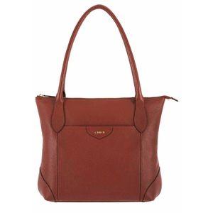 NWT Lodi's Designer Brown Leather Large Tote Bag